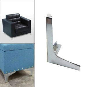 Chrome Sofa Legs - Steel Plinth Legs/Feet for Furniture. Heavy Duty & Strong