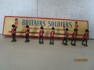 Britains Soldiers, # 82, Colours & Pioneers of the Scots Guards, Mint in OB.