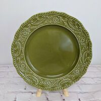 Canonsburg Pottery Company Regency Ironstone China Dinner Plate Green Vintage