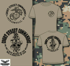 Camp Lejeune Court Street Pre-1987 New USMC T-shirt
