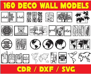 160 picture deco for wall DXF of PLASMA Laser Cut - CNC Vector DXF - CDR