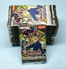 English Yugioh Invasion of Chaos 24 Booster Packs = Box Quantity Unsearched