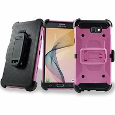 For ZTE Zmax Pro Z981 Hybrid Impact Armor Rugged Hard Case Cover Holster Stand
