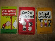 Vintage 1960's Charlie Brown Pocket Books - Lot of 3