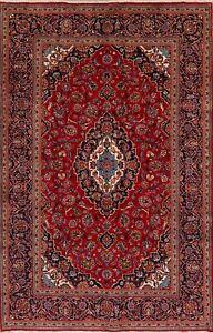 Medallion Hand-Knotted Vintage Ardakan Floral Area Rug Wool Oriental Carpet 7x10