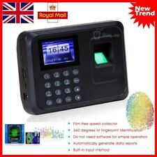 Time Recorder Clocking In Clock Machine Attendance Check Fingerprint+ Password