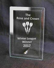 Personalised Engraved Glass Plaque Darts Trophy Award