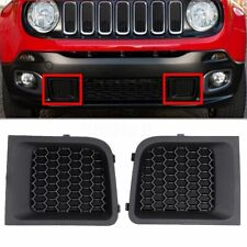 For 2015-2017 Jeep Renegade LH+RH Front Lower Bumper Grill Grille Bezel Cover