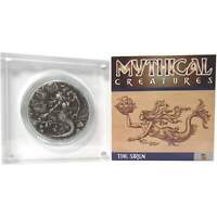 2018 BIOT Mythical Creatures Siren 2 oz .999 Silver Proof High Relief £4 Coin