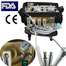 Portable bag Dental Unit Backpack Style Air Compressor Suction Triplex Syringe