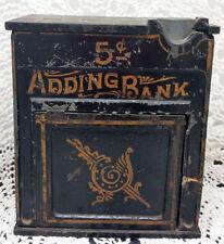 WONDERFUL CAST IRON ISAAC PFORZHEIMER NY IRON 5C ADDING BANK CIRCA 1889