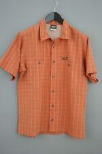 Men Jack Wolfskin Shirt Short Sleeves Cotton Blend Travel Casual Size M VAA8