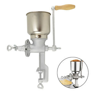 Home Cast Iron Corn Mill Grinder Manual Hand Crank Grains Oats Coffee Nuts UK