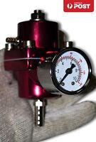 Universal Adjustable Fuel Pressure Regulator Kit w/ Guage Civic Ford Red