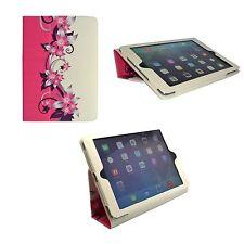 Funda para apple IPAD 2 3 4 Rosa Crema Diseño Flores PU Funda Piel