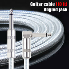 Guitar Cable Instrument Cord Straight Right 10ft OFC Braided Low Noise kmise