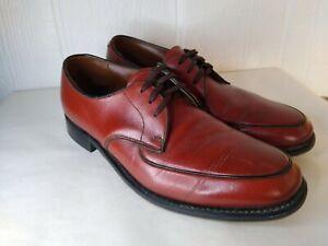 Vtg Allan Temple Mens Reddish Brown Imperial Oxford Split Toe Lace Up Shoe 10 B