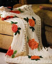 BEAUTIFUL Field of Poppies Throw/Afghan/Crochet Pattern INSTRUCTIONS ONLY