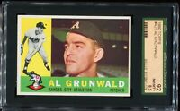 1960 Topps Baseball #427 AL GRUNWALD Kansas City Athletics RC SCG 92 NM-MT+