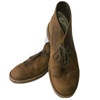 Clarks Mens Desert Boots Chukka Crepe Brown Suede Size 14 M EU 48