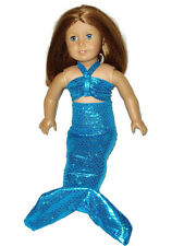 """Teal Mermaid Costume Fits American girl dolls 18"""" Doll Clothes"""