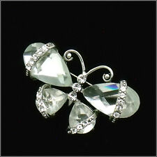 Butterfly Insects Pin Brooch Wedding Party Costume Jewelry Crystal Clear New B94