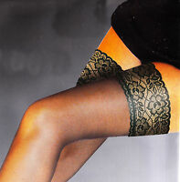 """*NEW* 3.5"""" Wide Deep """"See-Through"""" Lace-Top Luxury Thigh-High Hold-Up Stockings"""