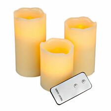 3 LED CANDLE SET WITH REMOTE LIGHTS FLICKER FLAMELESS CANDLE BATTERY OPERATED