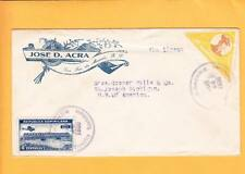 Domenican Republic Air Mail 1936 de Macoris Trujillo City Backstamp J Acra Us Zx
