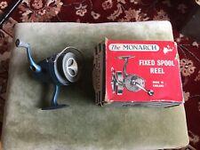 Vintage 1960's K.P. Morritt Monarch Fixed Spool Fishing Reel In Original Box
