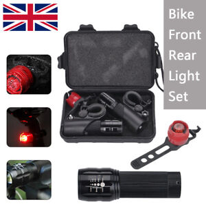 2 x CREE Q5 LED Front Rear Lamp Bike Bicycle  Zoomable Torch  Lights+Aluminum