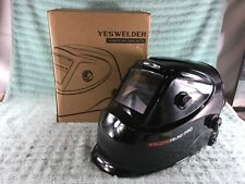 Yeswelder Large Viewing Screen Auto Darkening Welding Helmet Ly500 Used