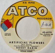 "Bobby Darin Artificial Flowers EX Minor EdgeWrp NAP 45 7"" Vinyl Extras ShipFree"