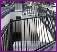 Cerified Aluminium Black Flat Top Pool Fencing 2.4longx1.2high Garden fence