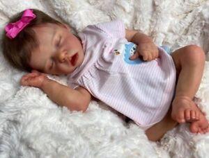 "18"" Handmade Reborn Baby Toy Newborn Lifelike Silicone Vinyl Babies Girl Dolls"