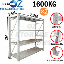 Garage Shelving Longspan Shelving Warehouse Metal Steel Rack 2M x 3M x 0.6M
