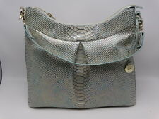 Brahmin Bristol Hobo Opal Shimmer Snake Embossed Leather Shoulder Bag New