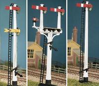 HO/OO gauge LNWR Square Post (4 Signals inc. Jcn/Brackets) Ratio 477 free post