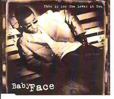Baby Face-this is for the lover dans you, CD-Maxi