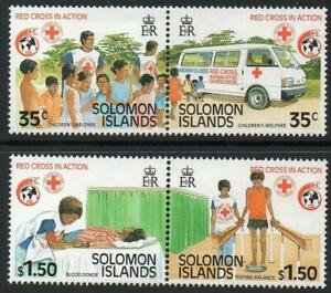 SOLOMON ISLANDS 1989 SG644-47 ANNIVERSARY OF INTERNATIONAL RED CROSS  -  MNH