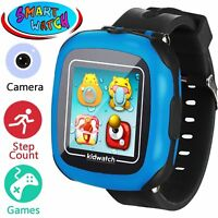 Smartwatch Boys Girls Watch Smart with Camera Games Alarm Colour Blue