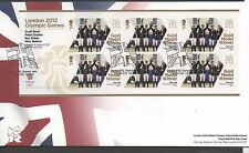 GB 2012 Official FDC Olympics Sheetlet 6th aug Nick Skelton et al 6 stamps
