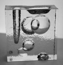 1960s PUKEBERG SWEDEN MIDCENTURY MODERN ART GLASS SCULPTURE BUD VASE SCANDINAVIA