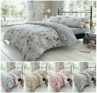 Luxuries BIRDIE BLOSSOM Flower Duvet Quilt Cover+PillowCase Bedding Set All Size