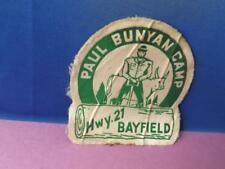 PAUL BUNNYAN CAMP BABE BLUE OX HWY 21 BAYFIELD HAT PATCH VINTAGE SOUVENIR CANADA