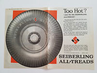 1925 Seiberling All Treads Tires Rubber Co Too Hot Two Page Centerfold Ad