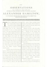 HAMILTON Broadway Musical PROP used onstage The Reynolds Pamphlet
