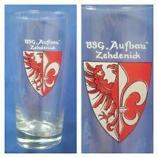 G937 GLAS BSG AUFBAU ZEHDENICK DFV DFB Fussball Sport DDR Oberliga Liga H14,5cm