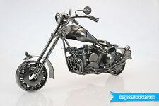 Scrap Metal Art Handmade Nuts & Bolts Pillion Seat Motorbike Model Motorcycle