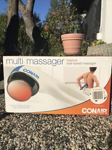 CONAIR Multi Massager HEATED or without Dual Speed with 4 Attachments